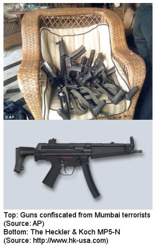 MP-5s used in Mumbai attack