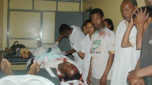 A victim of the Ethiopian government's repression during the 2005 elections