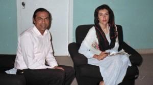 The author, Azhar Masood, with Benazir Bhutto in 1986 (Photo courtesy of Azhar Masood)