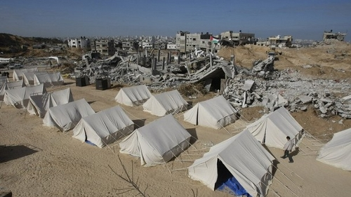 "Tents in Gaza for Palestinians made homeless by Israel's ""Operation Cast Lead"" (Getty Images)"