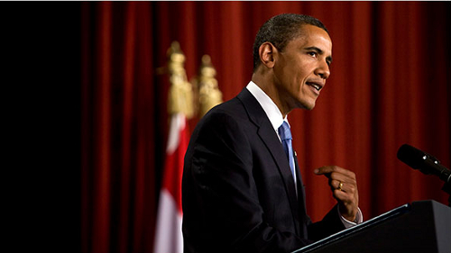 President Barack Obama speaks at Cairo University on June 4 (Stephen Crowley / New York Times)