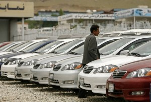 Kabul is awash with brand new luxury cars as new found wealth finds a way of expression. Photo - Reuters