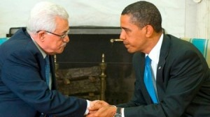 Acting Palestinian Prime Minister Mahmoud Abbas with U.S. President Barack Obama (AFP)