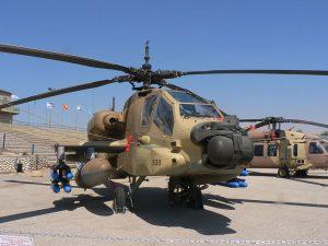 A U.S.-made Israeli Apache helicopter gunship.