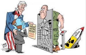 """Prevent Holocaust: BOMB IRAN"" by Carlos Latuff"