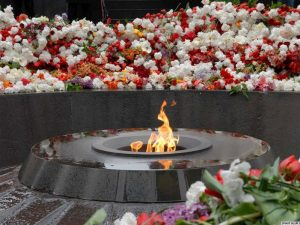 The Armenian Genocide Memorial in Yerevan. (Photo: RFE/RL)