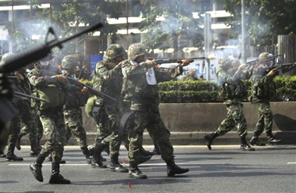Thai Army Clashes with Protesters