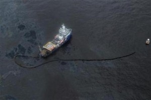 BP is attempting to contain and clean up its oil spill in the Gulf of Mexico (Photo: Reuters)