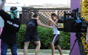 Antonio Graceffo fights for a 3D martial arts film.