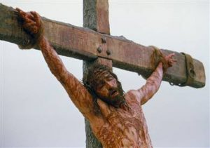 "Jesus on the cross, from the film ""The Passion of the Christ"""