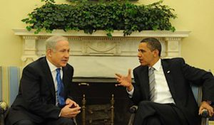 Israeli Prime Minister and U.S. President Barack Obama meeting in May 2009
