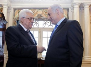 Mahmoud Abbas and Benjamin Netanyahu (AP)