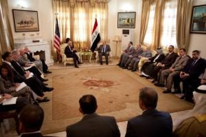 U.S. Vice President Joe Biden meets with Ayad Allawi in Baghdad on August 31, 2010. (David LIenemann/White House)