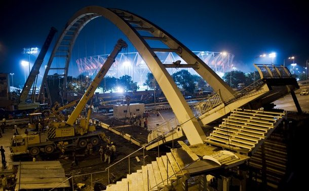 19 hurt in bridge collapse; Fate of Delhi Commonwealth Games hangs in balance