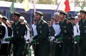 A view of the parade of Iranian Revolutionary Guards. (Atta Kenare/AFP/Getty Images)