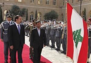 Iranian President Mahmoud Ahmadinejad in Lebanon (Reuters)