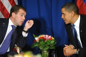 Russian President Dmitry Medvedev and U.S. President Barack Obama
