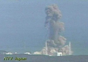 An explosion at Japan's Fukushima Daiichi nuclear plant on Monday, March 14, 2011 (Japan's NTV/AP)
