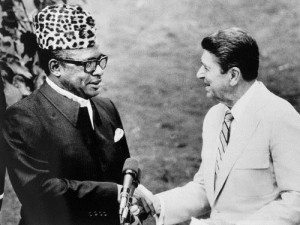 Mobutu and Reagan