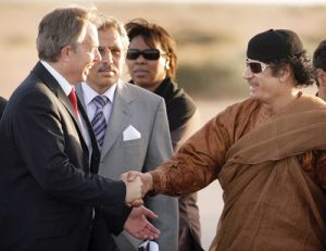 Tony Blair meeting with Muammar Gaddafi in June 2007 (P. Macdiarmid/Getty)