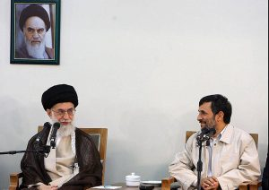 Khameini and Ahmadinejad
