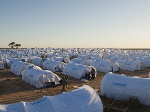 UNHCR camp for Libyan refugees (AP)