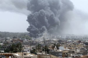 NATO airstrikes on Tripoli, June 7, 2011 (Reuters)