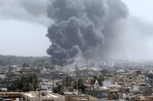 NATO airstrikes on Tripoli, June 7, 2011 (Reuters)