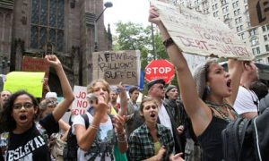 Occupy Wall Street protesters in New York on September 24, 2001 (Tina Fineberg/AP)