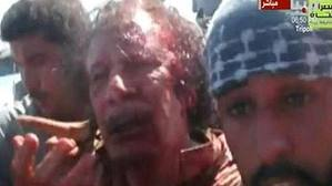 Muammar Gaddafi was captured alive after a US Predator drone struck his convoy, before being executed by NATO-backed rebel forces on October 20, 2011