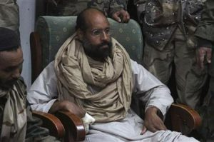 Saif al-Islam in custory of rebel forces in Obari, Libya on November 19, 2011 (Ammar El-Darwish/Reuters)