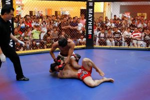 Mixed martial arts competition in Malaysia (Photo courtesy Antonio Graceffo)