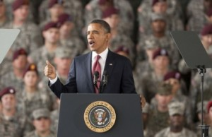 President Obama speaks at Ft. Bragg on the end of the Iraq war