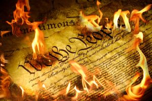 U.S. Constitution burning