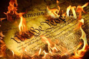 U.S. Constitution burning