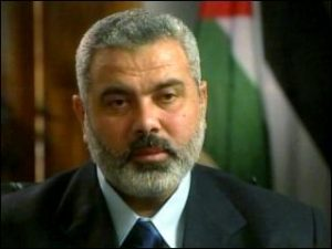 Prime Minister of the Hamas government in the Gaza Strip, Ismail Haniyeh