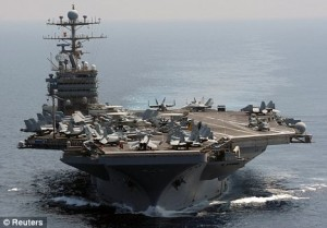 The USS Abraham Lincoln (Reuters)