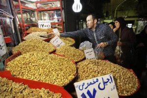 A vendor in Tehran, Iran, February 2, 2012 (AP)