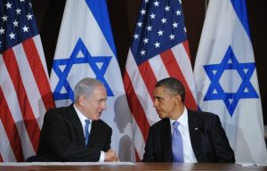 A photo of Israeli Prime Minister Benjamin Netanyahu and U.S. President Barack Obama appearing with David Makovsky's Foreign Policy op-ed on February 22, 2012 (NGAN/AFP/Getty Images)