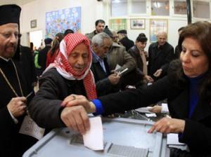 Syrians voted for a new constitution in a referendum on February 26, 2012 (AFP)