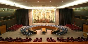 The United Nations Security Council Chamber in New York