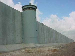 Israel's illegal annexation wall in the occupied West Bank