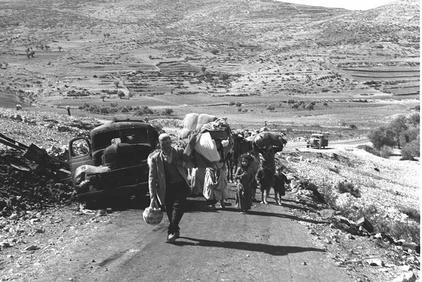 Palestinian refugees ethnically cleansed from their homes by Zionist forces, October 1948