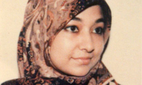 Dr Aafia Siddiqui as a student in a photo provided to The Guardian by her family.