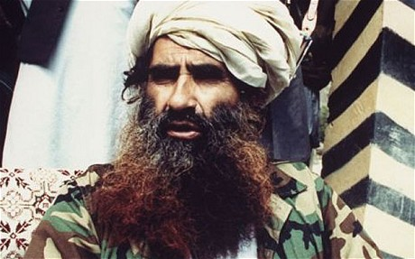 Mujahedeen commander Jalaluddin Haqqani in his base camp near the Pakistani border. (Photo: Getty)