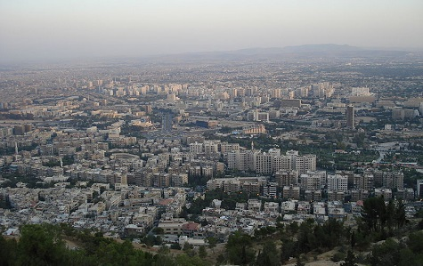 The view of Damascus from mount Qassioun (Aziz1005/Wikipedia)