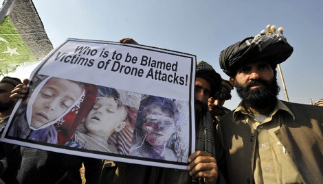 Pakistanis protest U.S. drone strikes on their country (AFP/Getty Images)