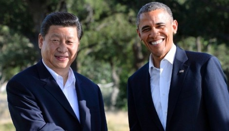 Chinese President Xi Jinping and US President Barack Obama (Jewel Samada/AFP/Getty Images)