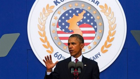U.S. President Barack Obama speaks about the Korean War on July 27, 2013 (Saul Loeb/AFP/Getty Images)