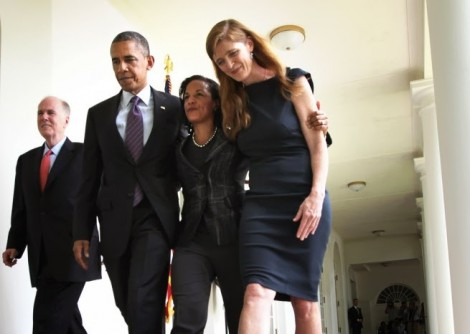 Barack Obama, Susan Rice, and Samantha Power (Pete Souza / White House)
